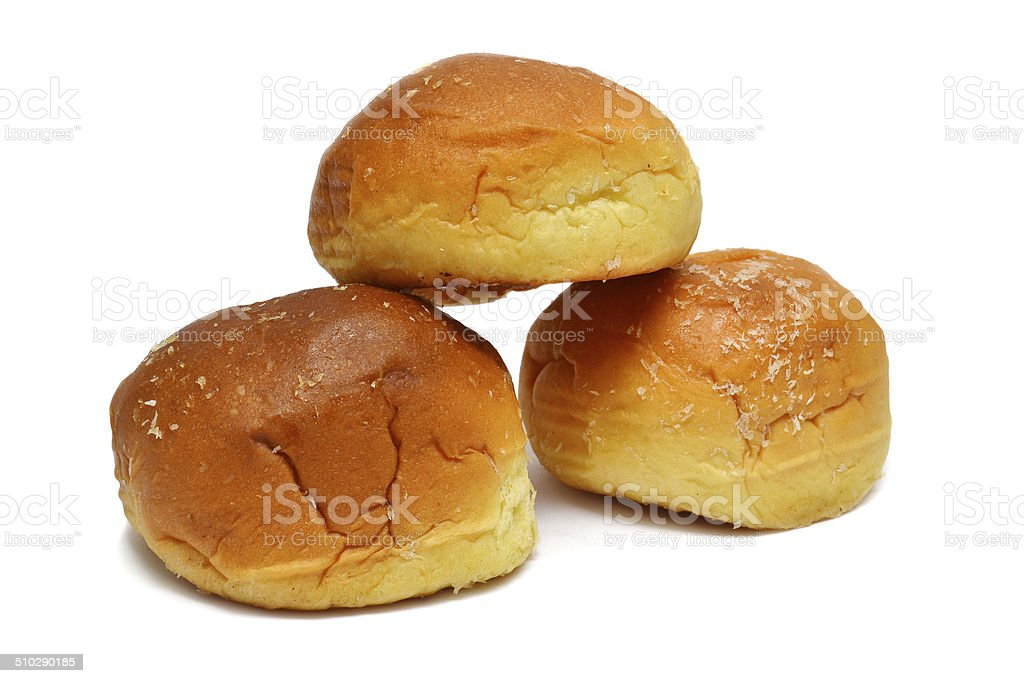 sweet bun bread stock photo