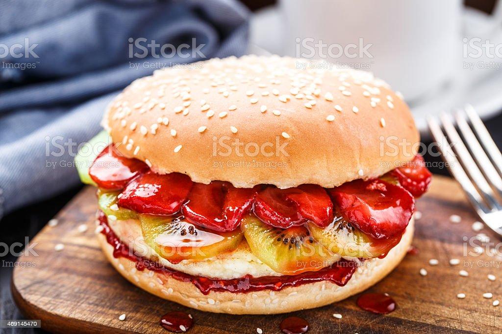Sweet burger stock photo
