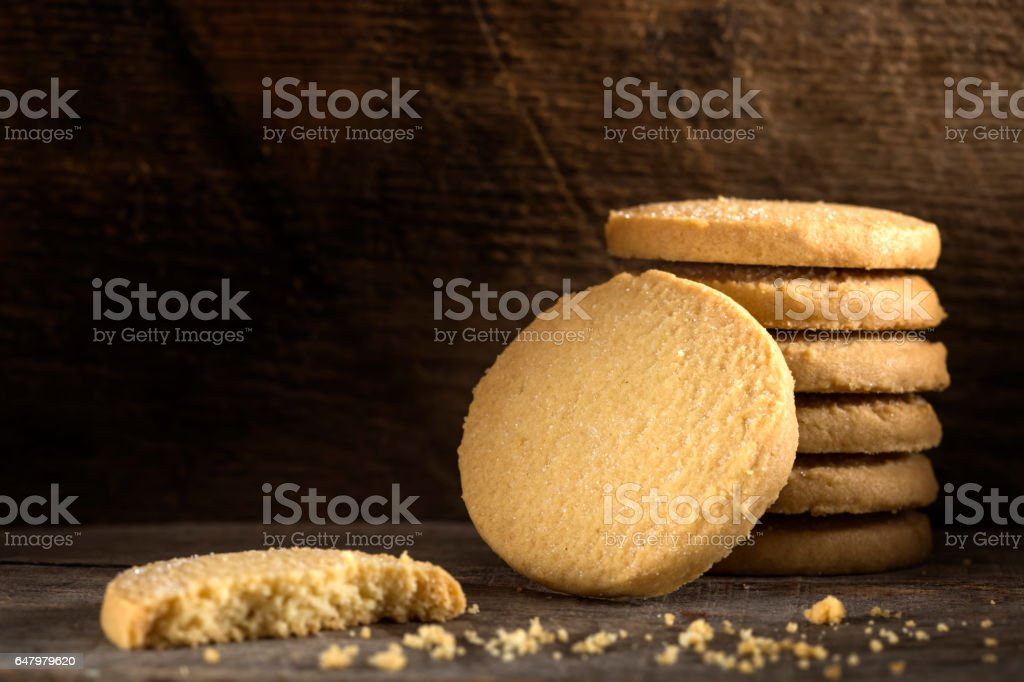 Sweet butter cookies stock photo