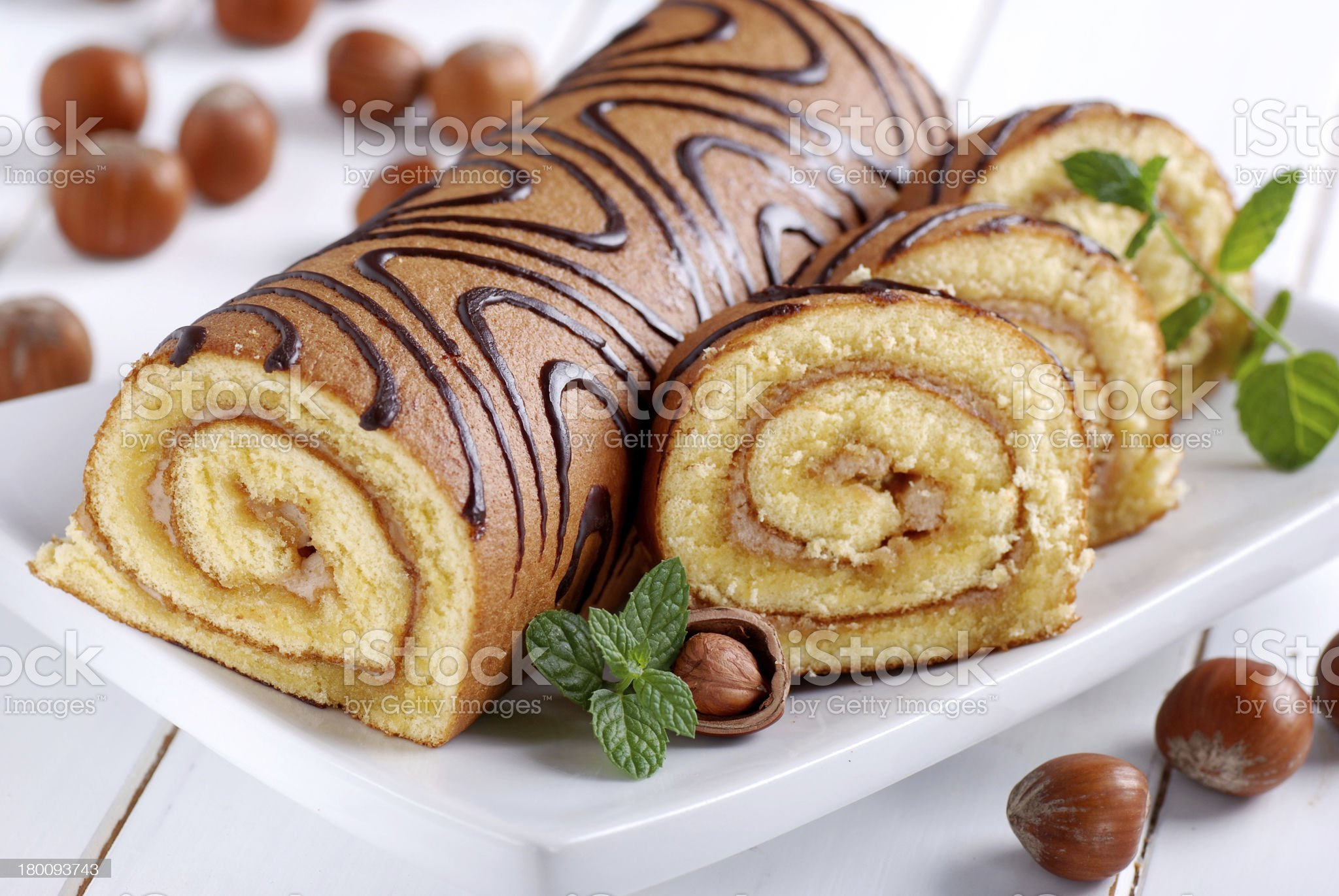 sweet cake roll royalty-free stock photo