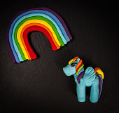 sweet candy rainbow and unicorn