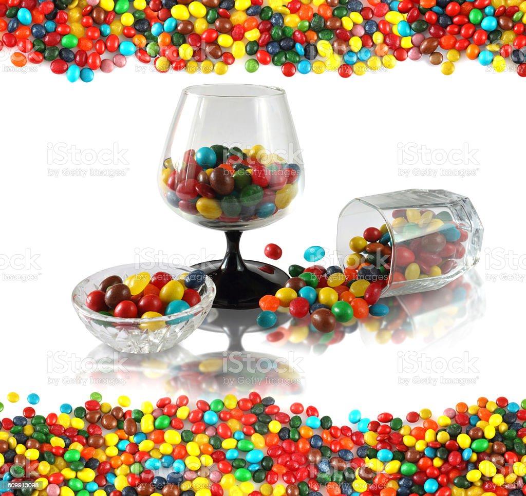 Sweet, candy still life stock photo