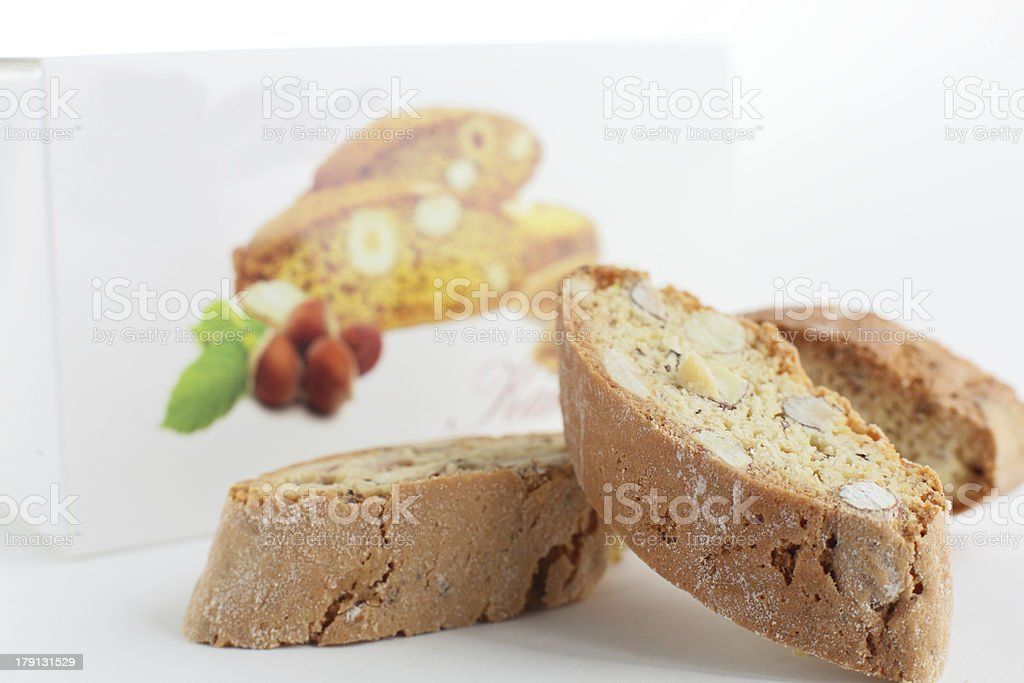 sweet cantuccini on white background royalty-free stock photo