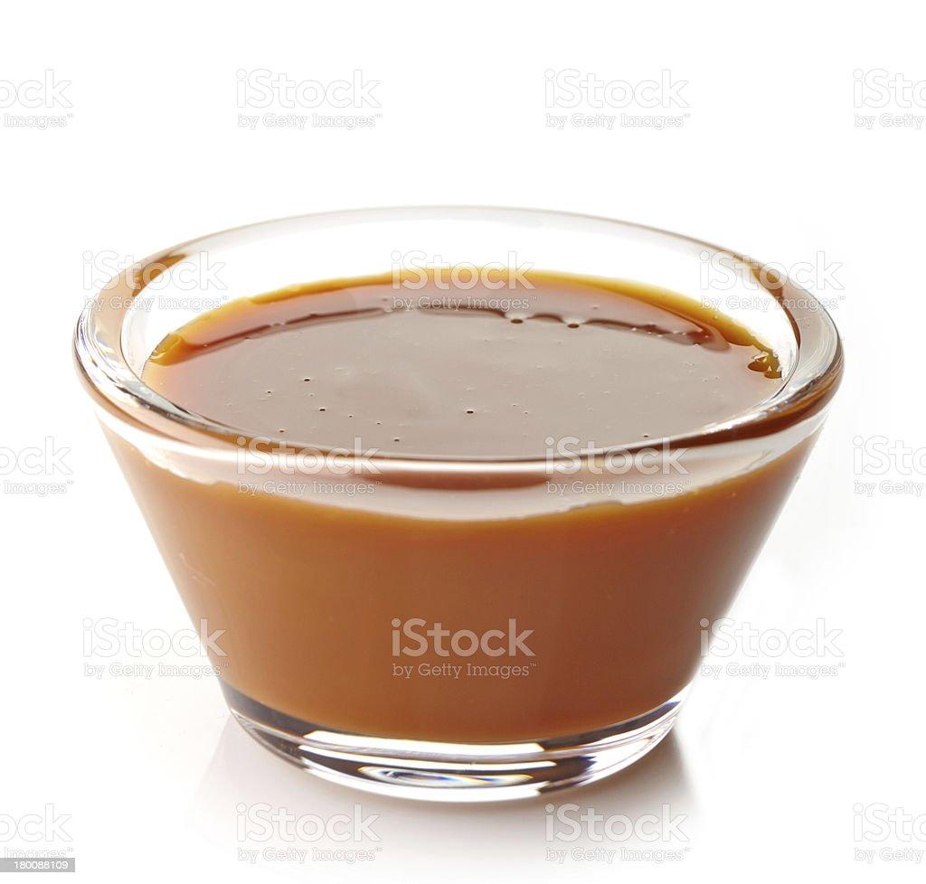 sweet caramel sauce royalty-free stock photo