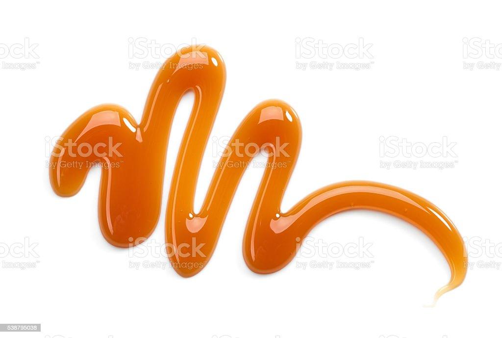 sweet caramel sauce stock photo