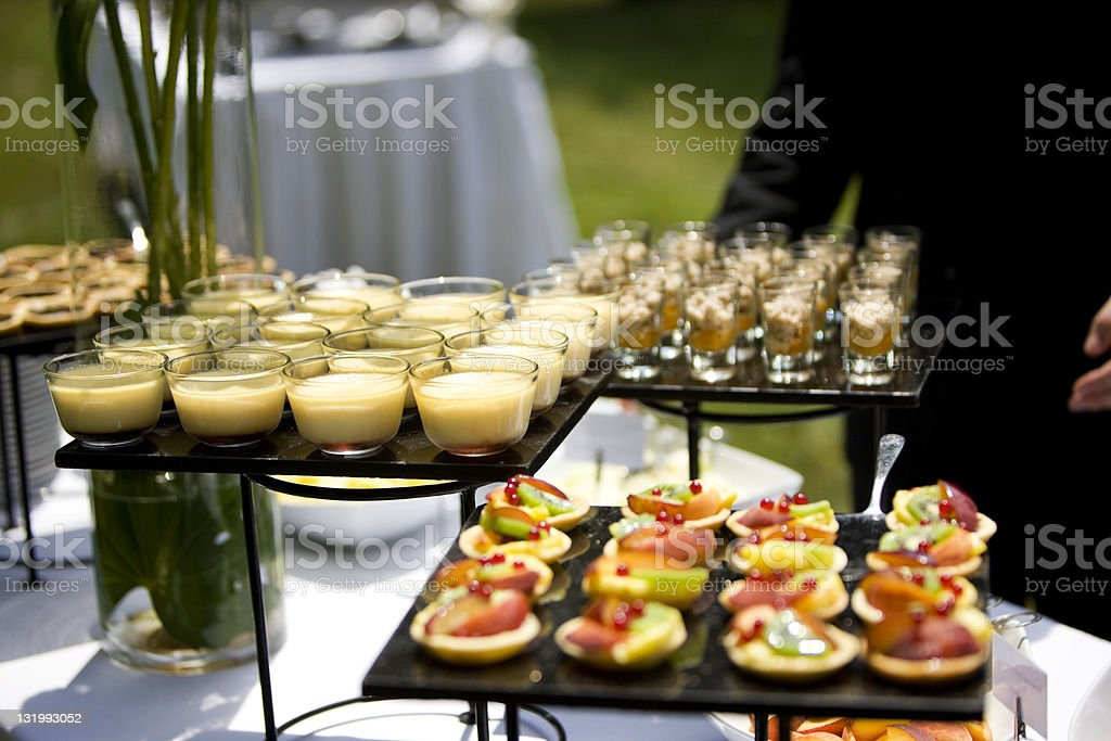 Sweet catering stock photo