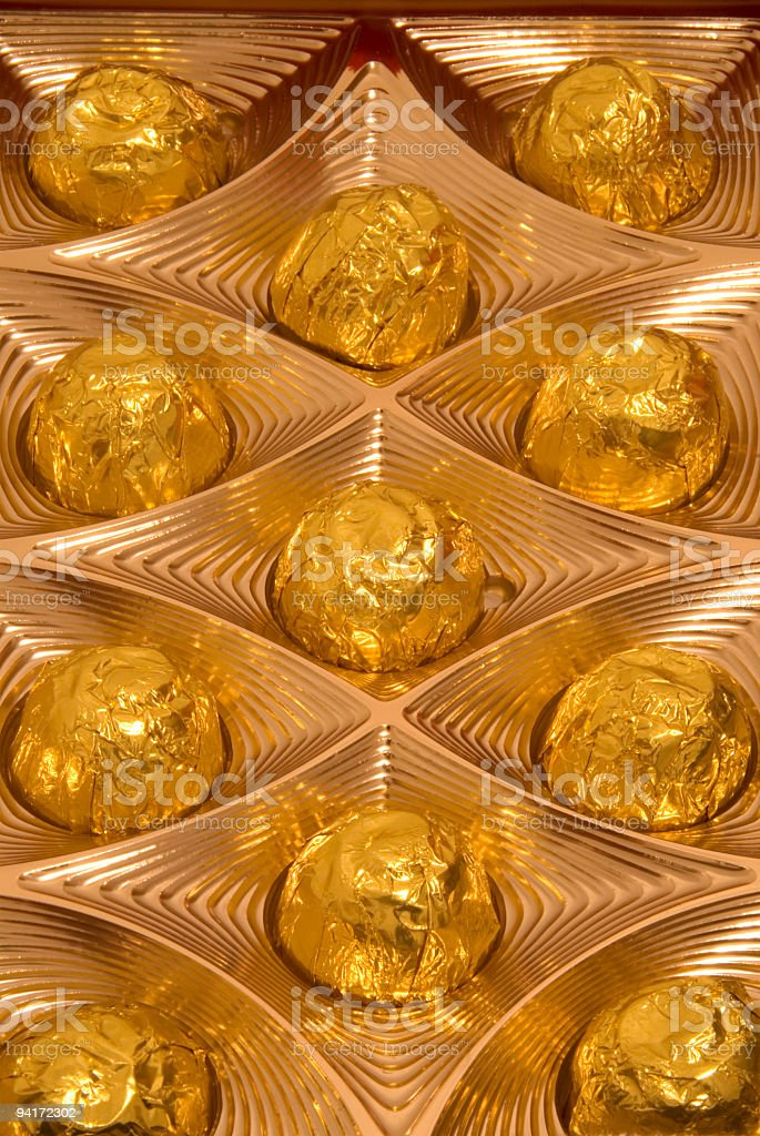 Sweet Cherry Candy in Gold Package royalty-free stock photo