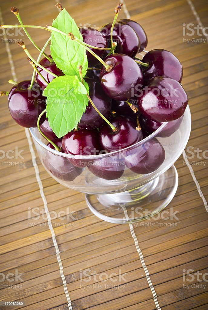 Sweet cherry fruits royalty-free stock photo