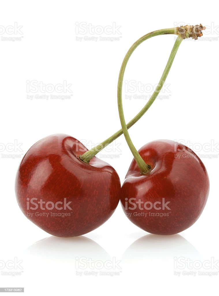 sweet cherry isolated on white royalty-free stock photo