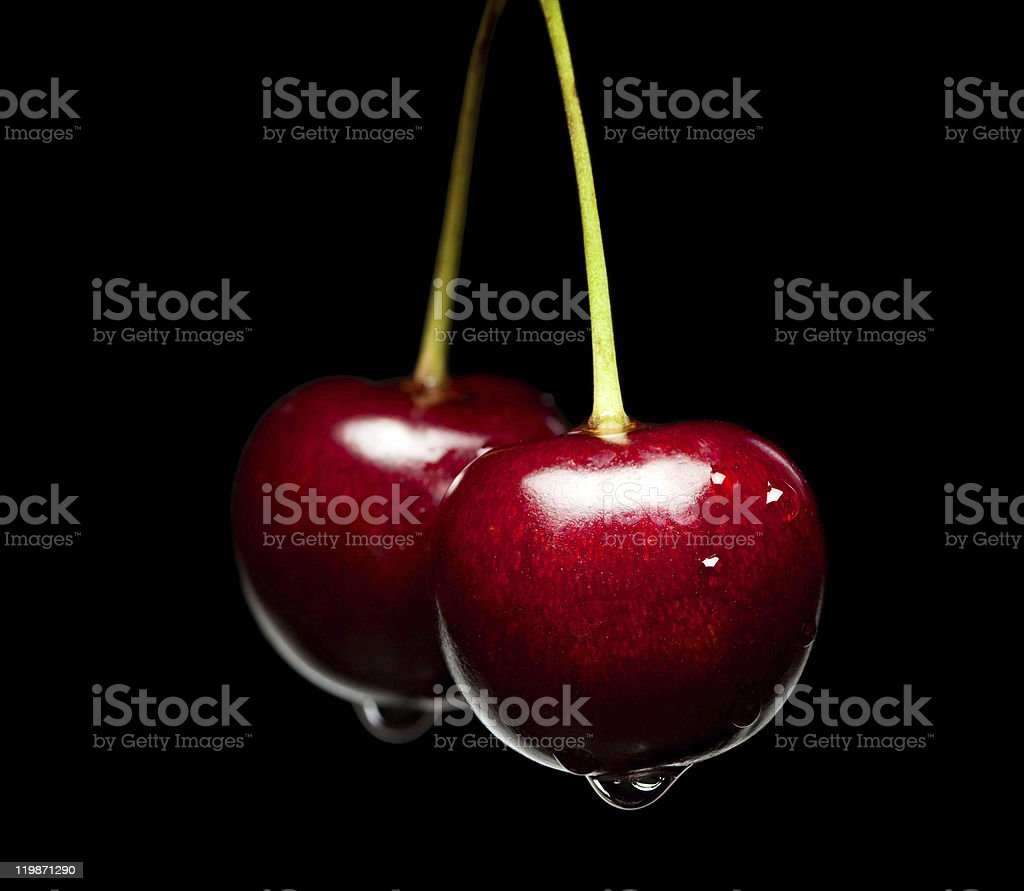 Sweet cherry pair stock photo