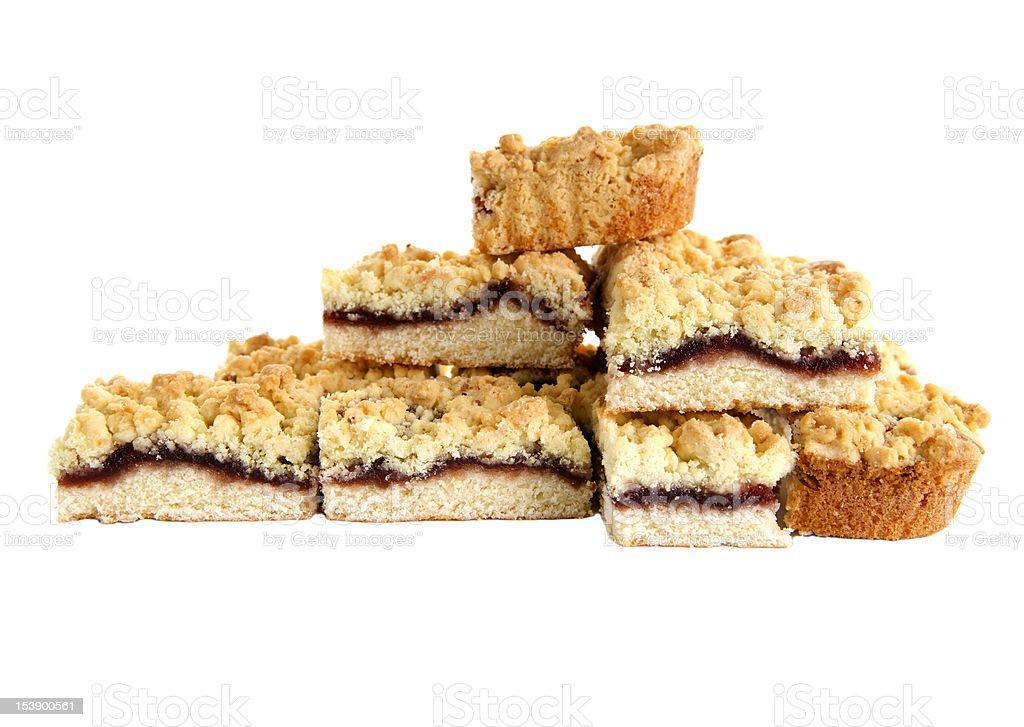Sweet Cherry Pie isolated white background royalty-free stock photo