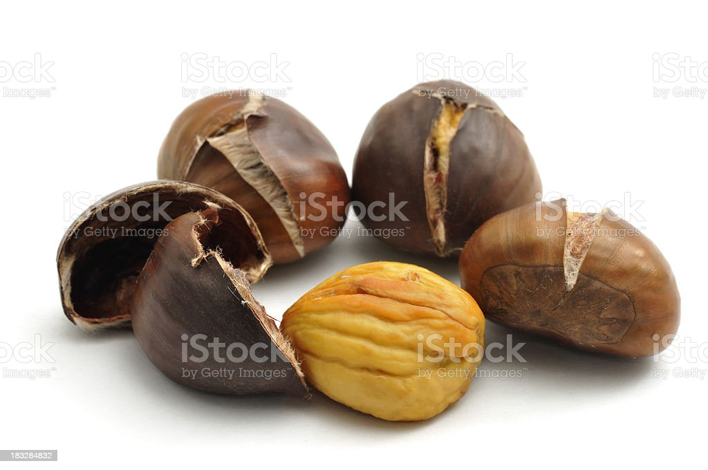 Sweet Chestnuts Roasted stock photo