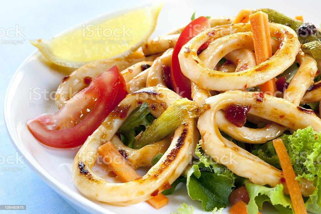 Sweet Chili Calamari stock photo