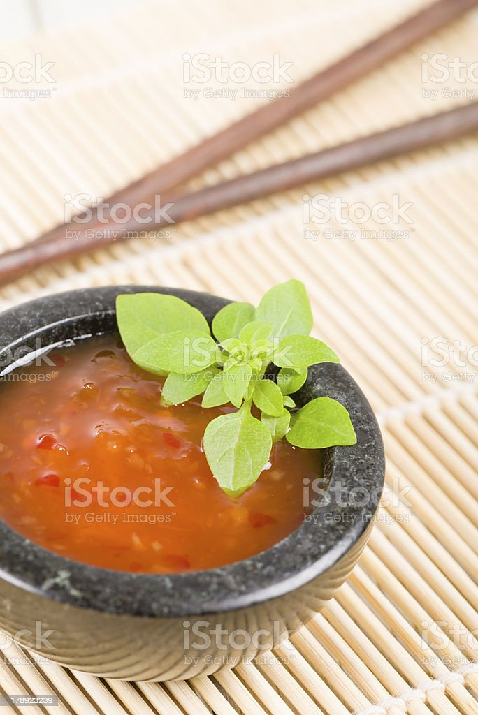 Sweet Chilli Dip stock photo