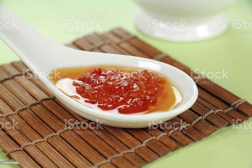 Sweet Chilli Sauce stock photo