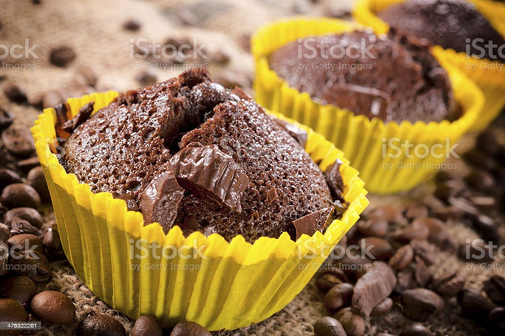 Sweet chocolate cups royalty-free stock photo