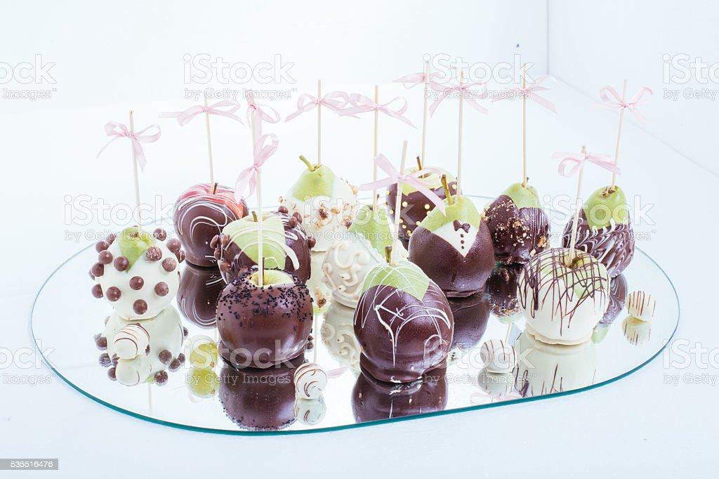 Sweet chocolate decoration stock photo