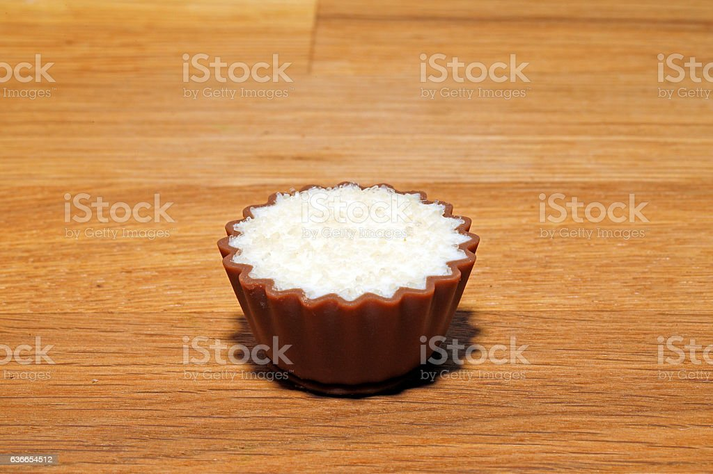 Sweet chocolate melted sugar stock photo