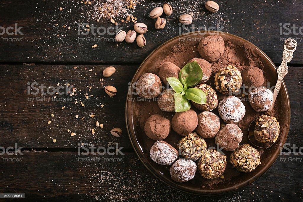 Sweet chocolate time stock photo