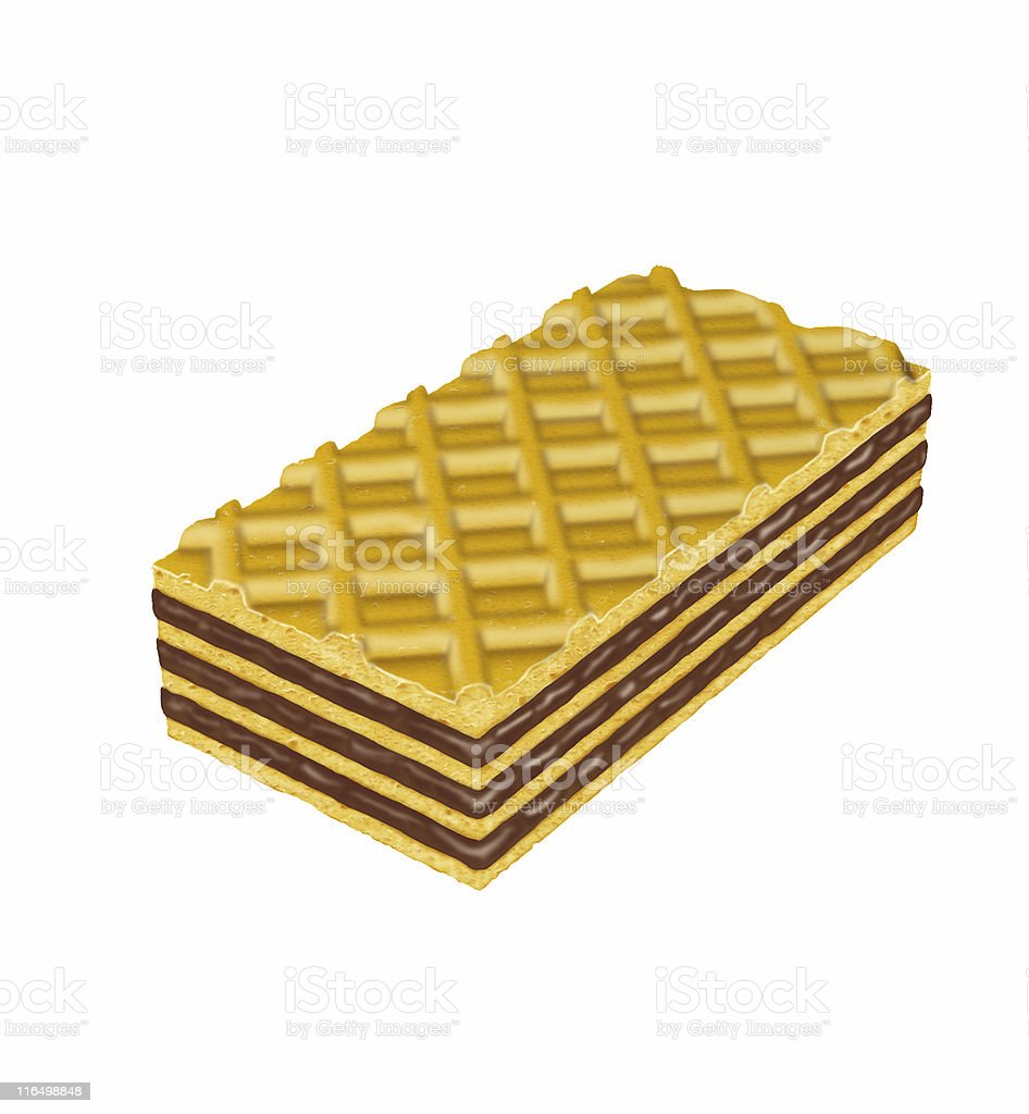 Sweet Chocolate Waffle stock photo