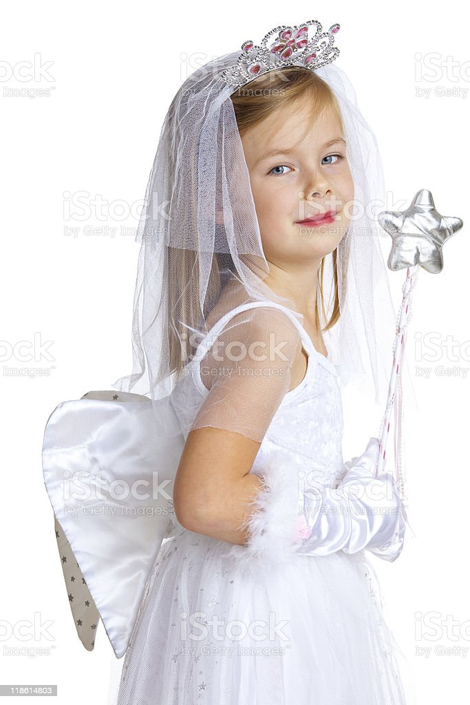 sweet christmas angel royalty-free stock photo
