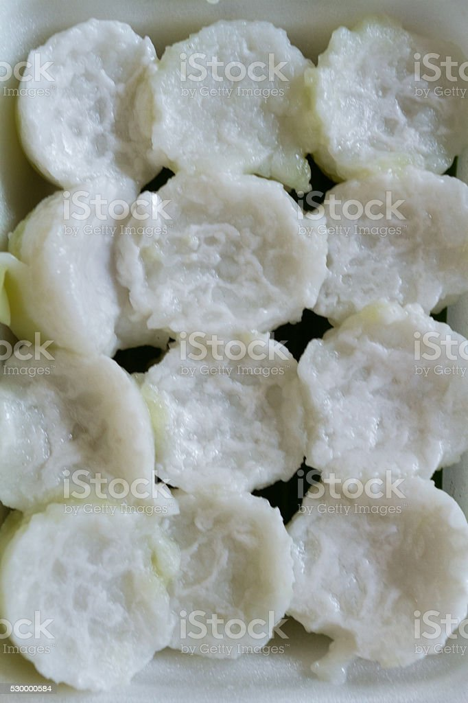 Sweet coconut jelly stock photo