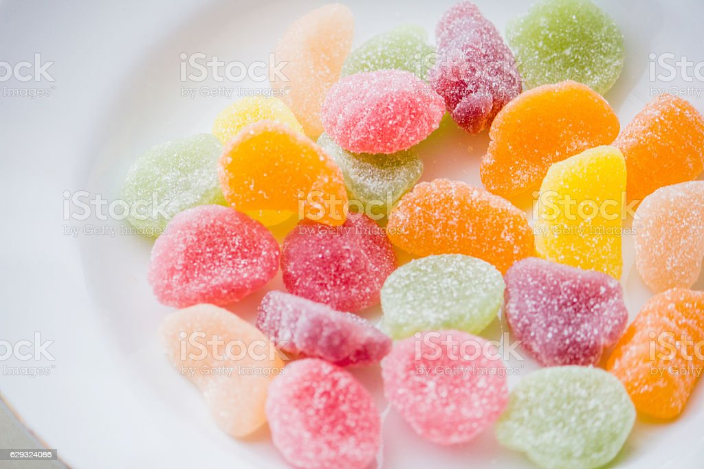 Sweet colorful gummy stock photo