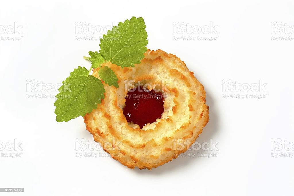 Sweet cookies with jam filling stock photo