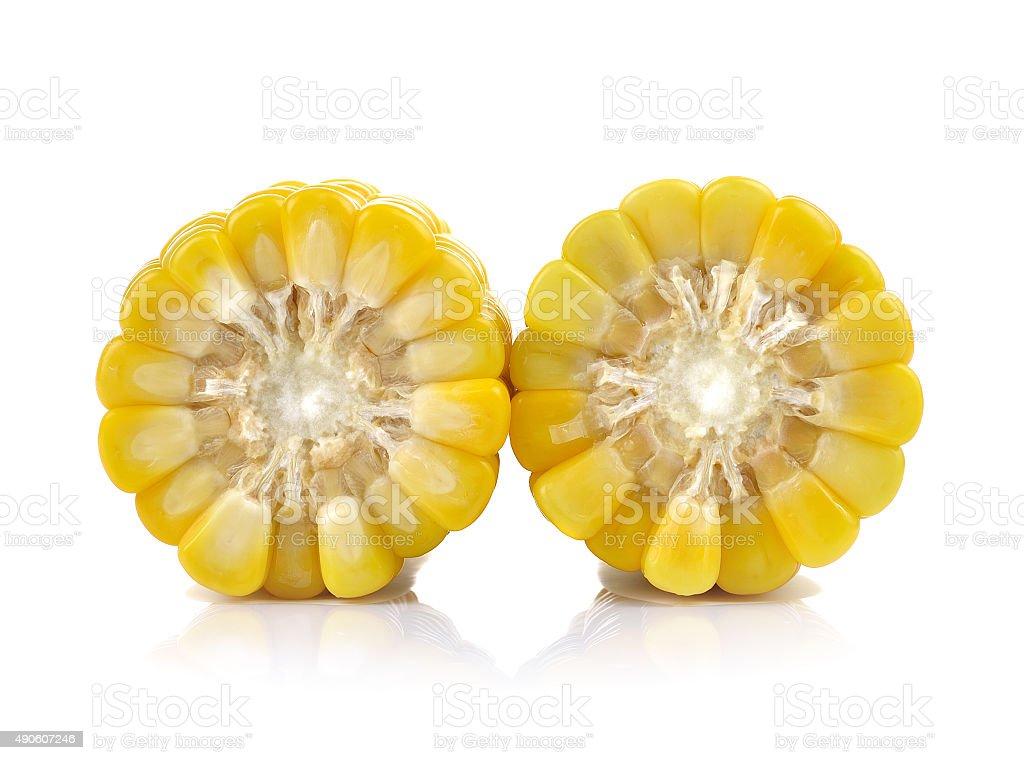 Kukurydza cukrowa na białym tle zbiór zdjęć royalty-free