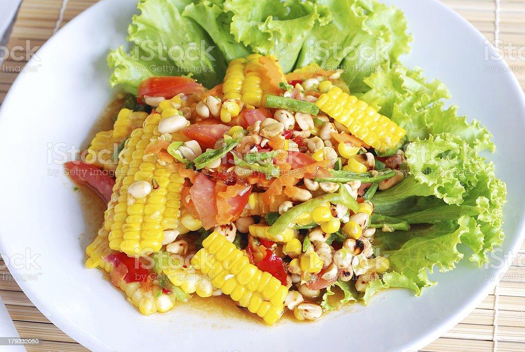 sweet corn spicy salad royalty-free stock photo