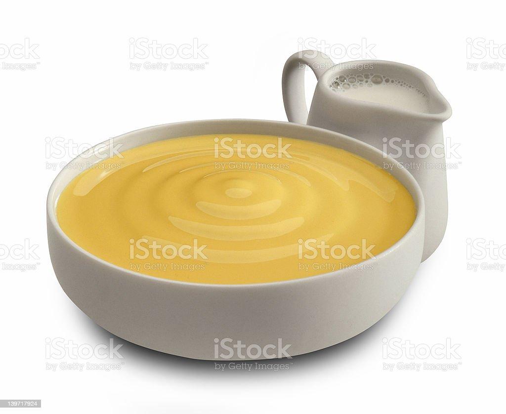 sweet cream with milk stock photo