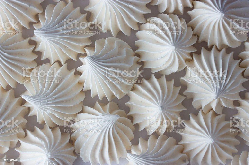 sweet delicious white zephyr stock photo