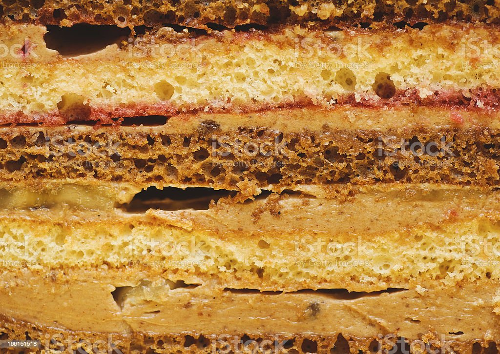 sweet dessert. cross-section texture of pieces cake. food backgrounds royalty-free stock photo