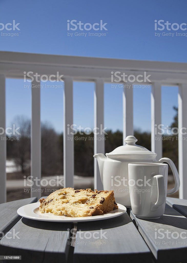Sweet dessert on a patio royalty-free stock photo