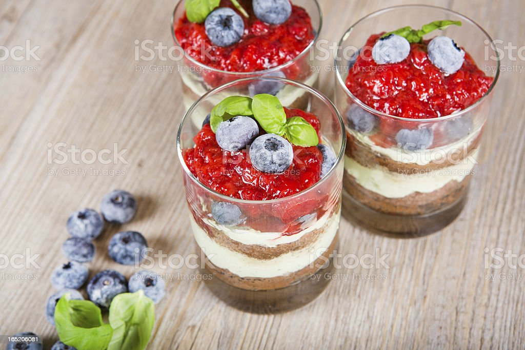 Sweet dessert tiramisu with strawberry royalty-free stock photo