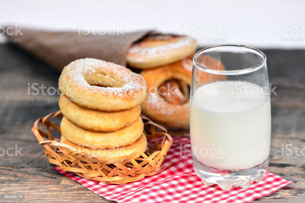 Sweet donuts stock photo
