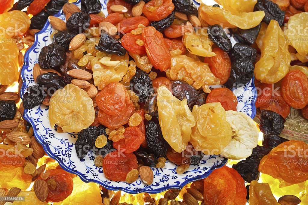 sweet dried fruits royalty-free stock photo