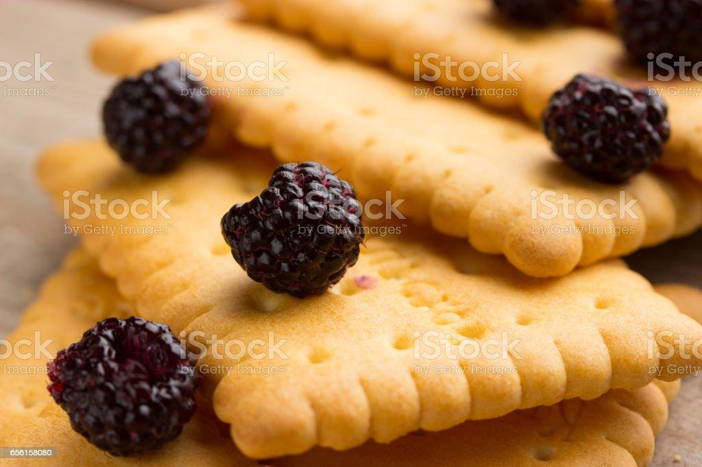 sweet dry cookies stock photo
