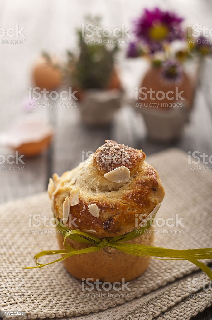 Sweet Easter bread royalty-free stock photo