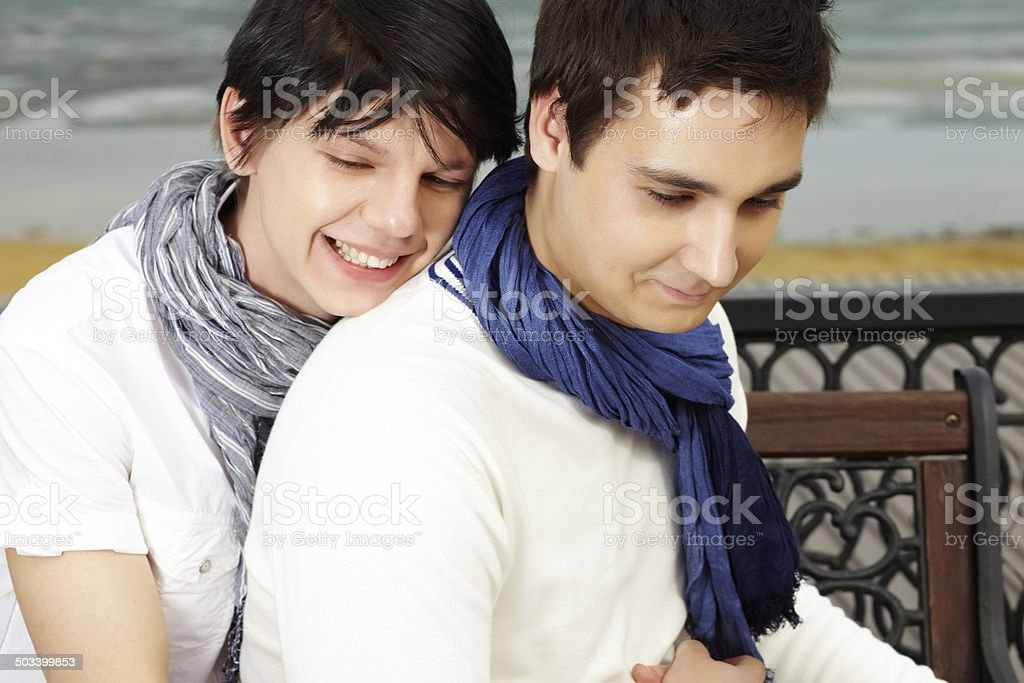 Sweet embrace stock photo