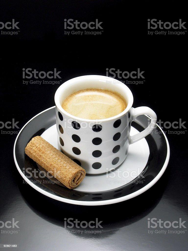 Sweet espresso royalty-free stock photo