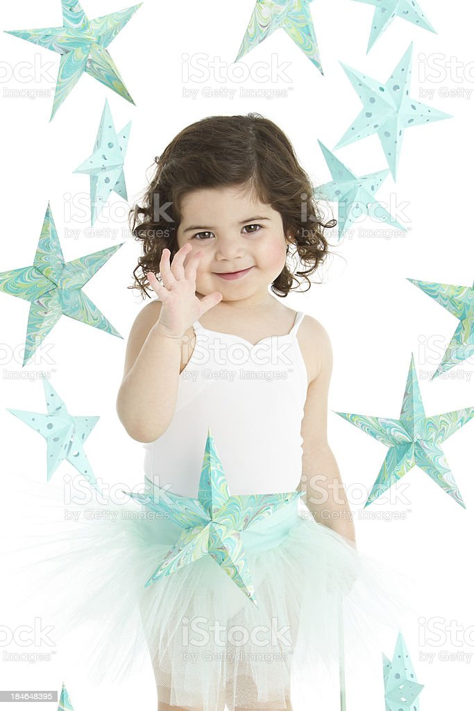 Sweet fairy with stars royalty-free stock photo