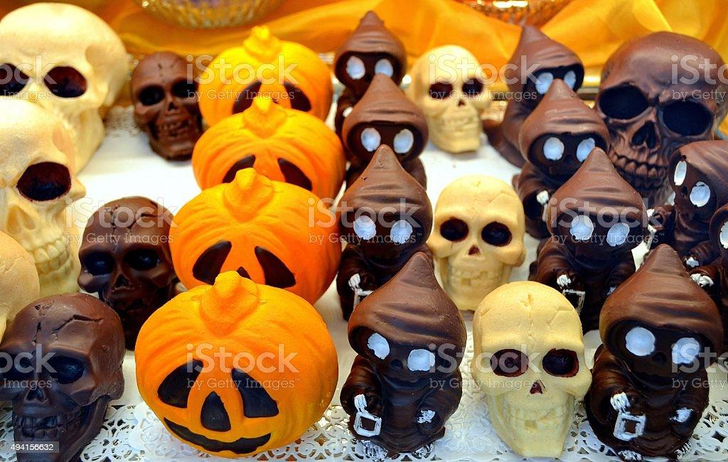 Sweet Food. Colored chocolate stock photo