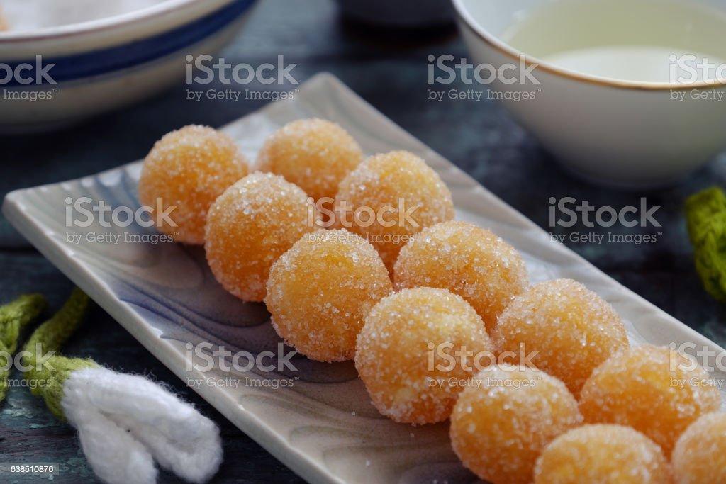 sweet food for tet, pineapple jam stock photo