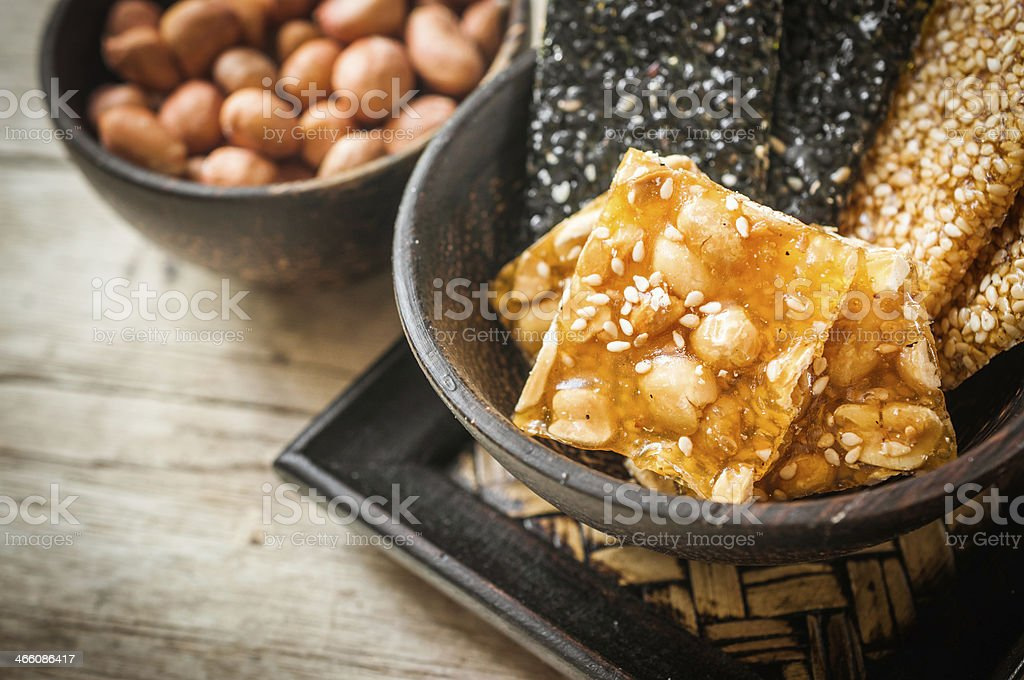 Sweet food made from peanuts stock photo