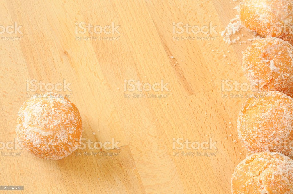 sweet fried background, space for text stock photo