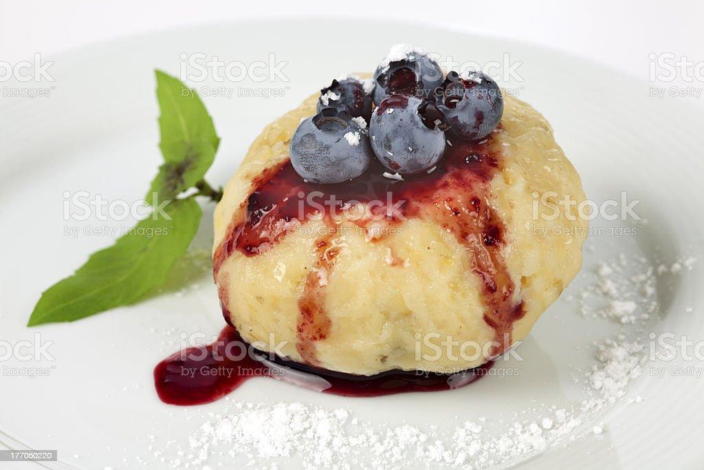 Sweet fruit dumpling royalty-free stock photo