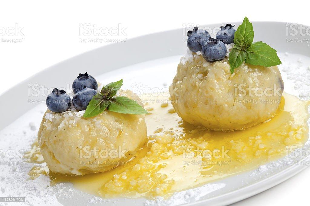 Sweet fruit dumplings royalty-free stock photo