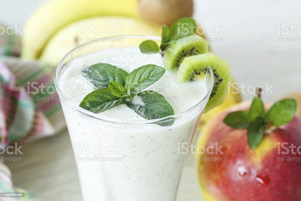 sweet fruit smoothie stock photo