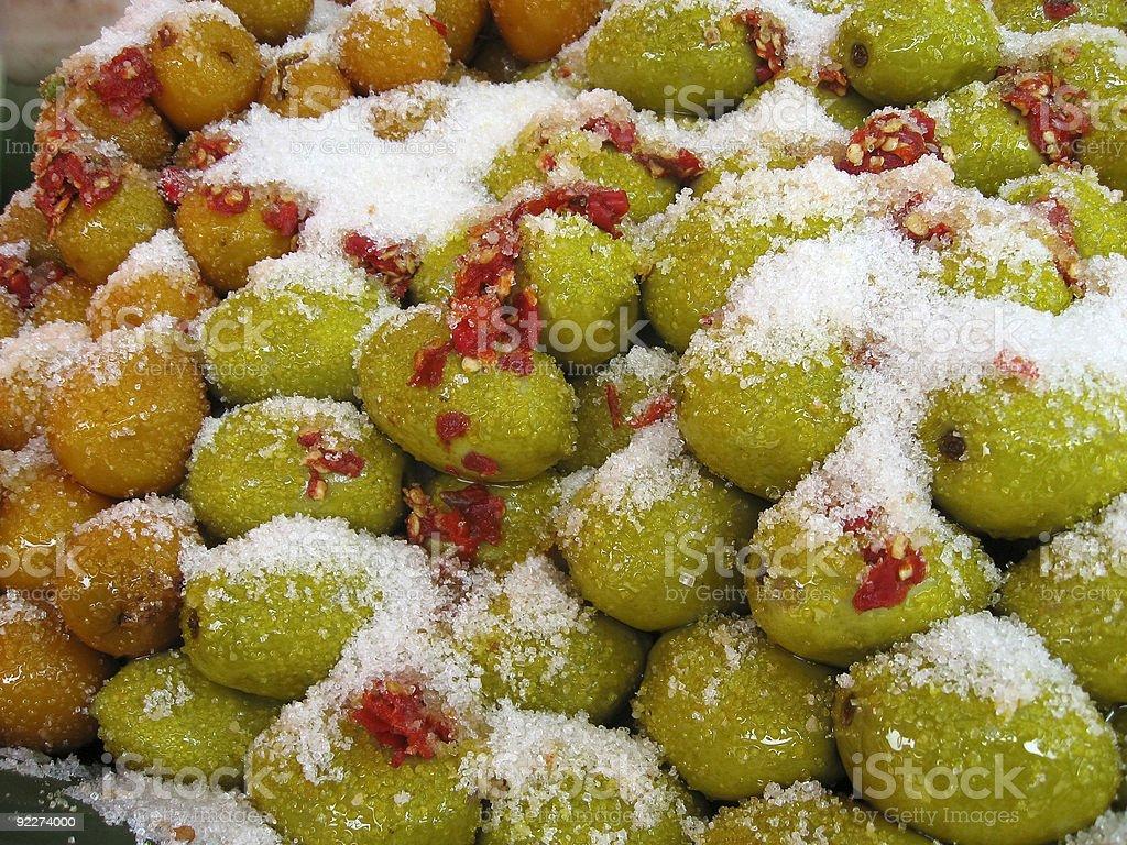 sweet fruits thai food market royalty-free stock photo